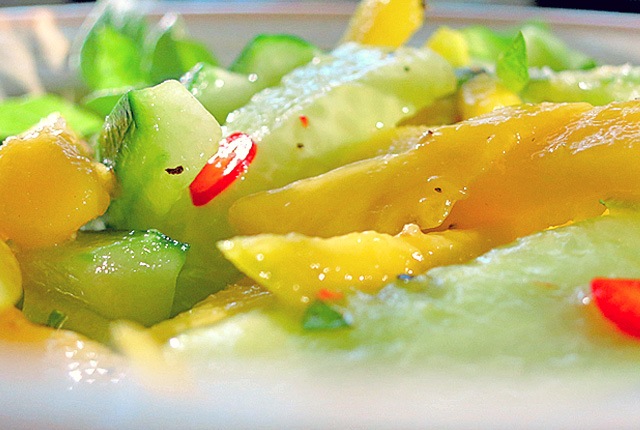 Schnelle Bord Rezepte Mango Gurken Salat