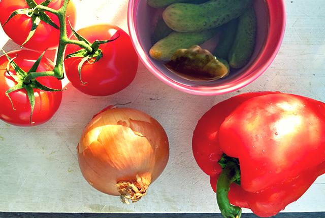Kochen an Bord: Soljanka Gemüsezutaten
