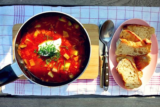 Soljanka Wurstsuppe Einfaches Bordrezept