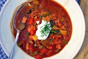 Soljanka, Wurstsuppe schnelles Bordrezept