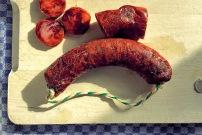 fettige Paparikawurst für Mejillones a las hierbas