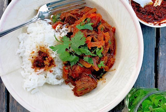 Kochen an Bord: Beef Tajine mit Harissa