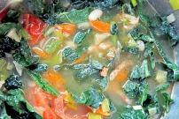 Was Kochen an Bord? Gemüseeintopf Ribollita