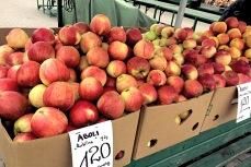 Äpfel im Zentralmarkt von Riga