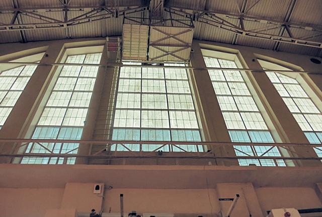 Dach Zeppenlinhalle in Riga Markt
