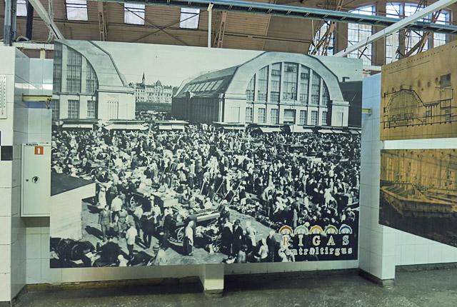Historische Ausstellung vom Markt in Riga