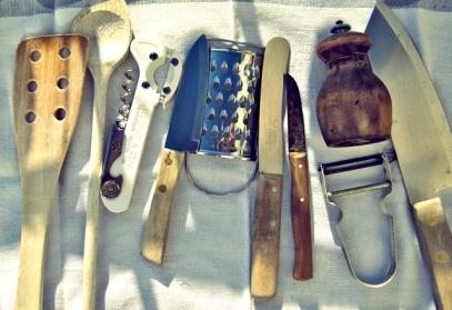 Die See kocht mit allen Werkzeugen
