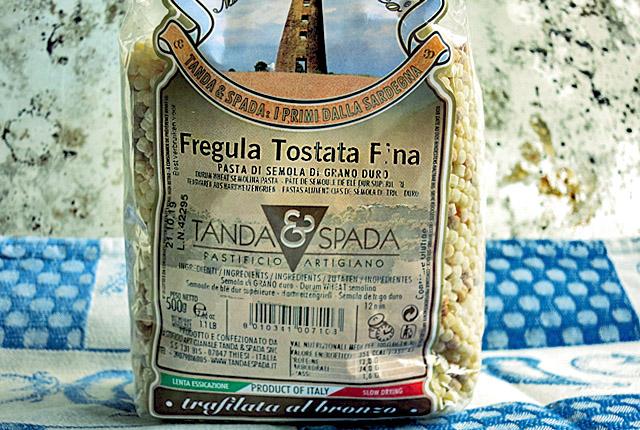 Fregola Sarda Tostada in Packung von Tiposarda