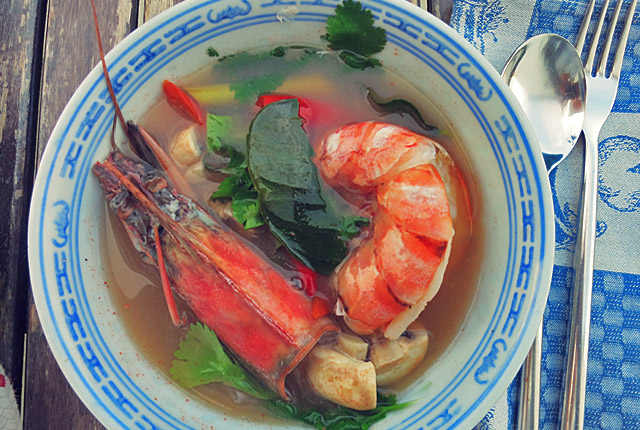 Tom Yum Goong Authentisch Traditionell
