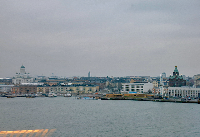 Helsinki im Winter, Anfahrt Hafen Silja Serenade