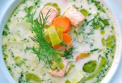 Wintersuppe: Lachssuppe aus Finnland mit Dill Rezept