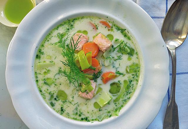 Kochen an Bord: Finnische Lachs-Suppe Lohiketto