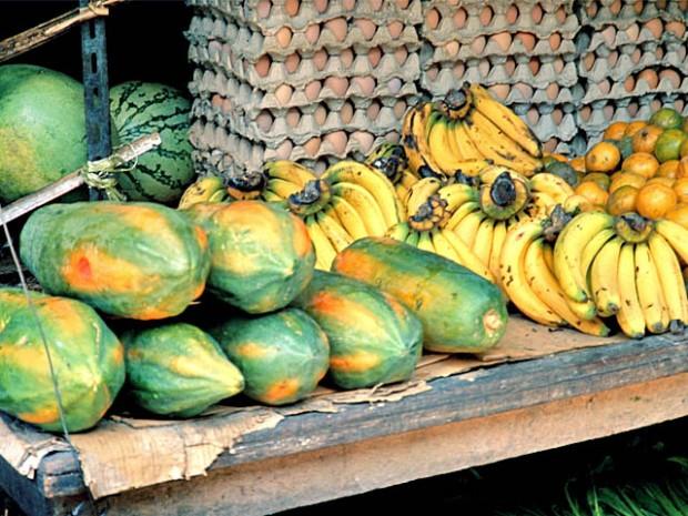 Reife Papaya auf Markt in Samui