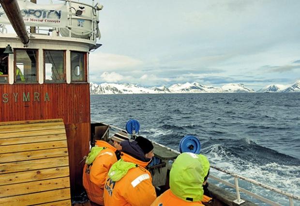 Kutter Symra auf den Lofoten mit Anglern