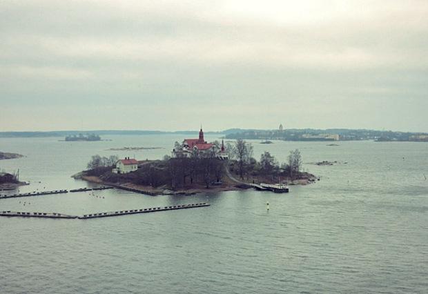 Blekholmen Yachthafen Helsinki im November
