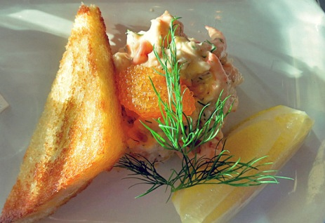 Die See kocht: Toast Skagen in Tranan Restaurant