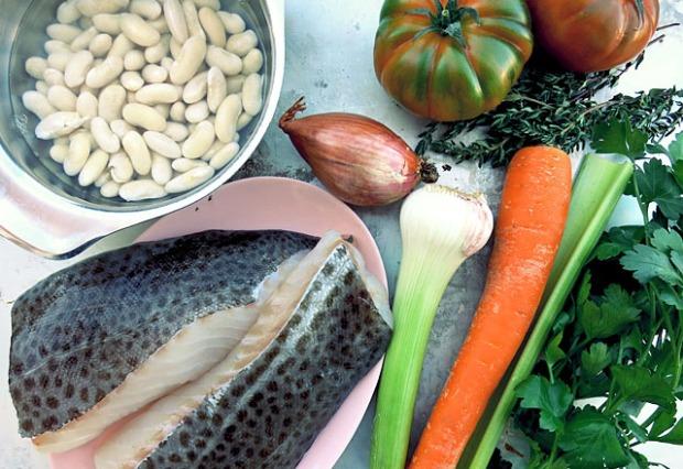 Die See kocht Skrei mit Bohnen und Gemüse