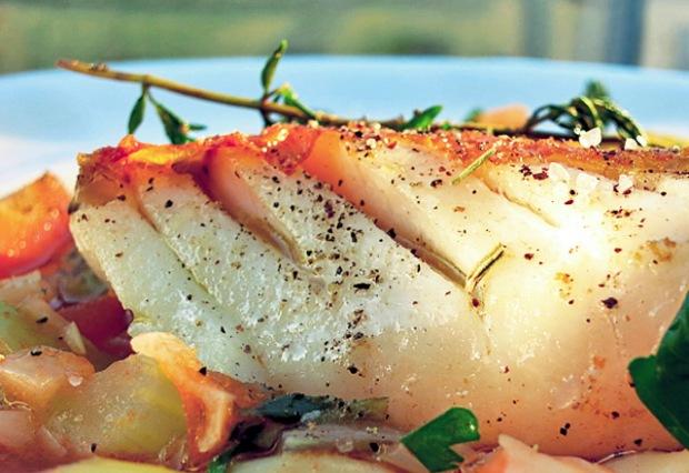 Die See kocht: Skrei Winterkabeljau mit Gemüse