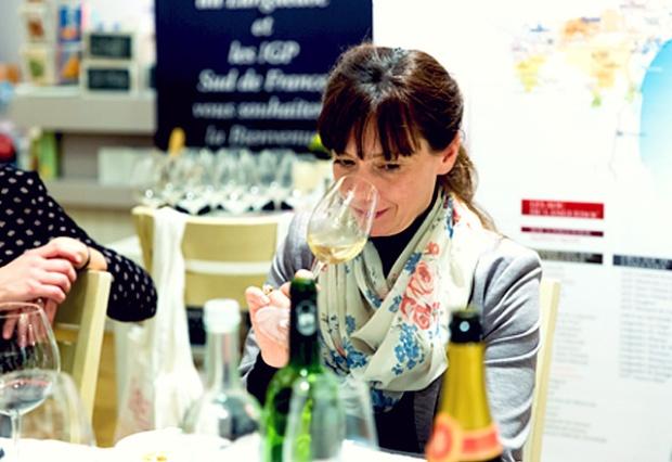 Sommelière Verena Herzog von Weinveranstaltung