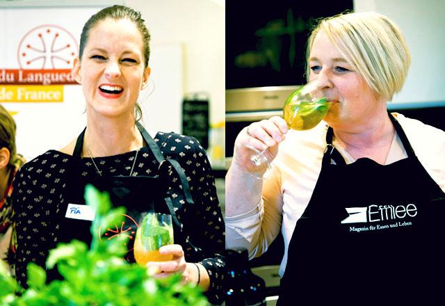 Pia und Tina beim Effilee BloggerEvent mit Mojito Languedoc