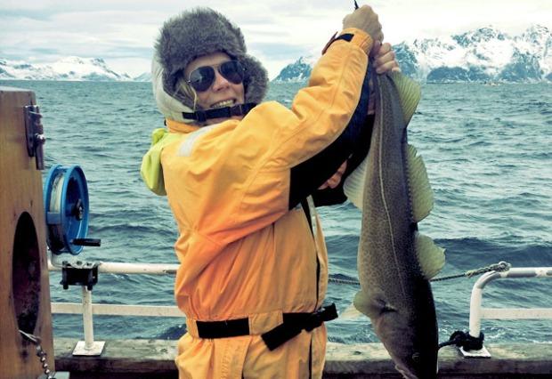 Die See kocht angelt Skrei auf den Lofoten