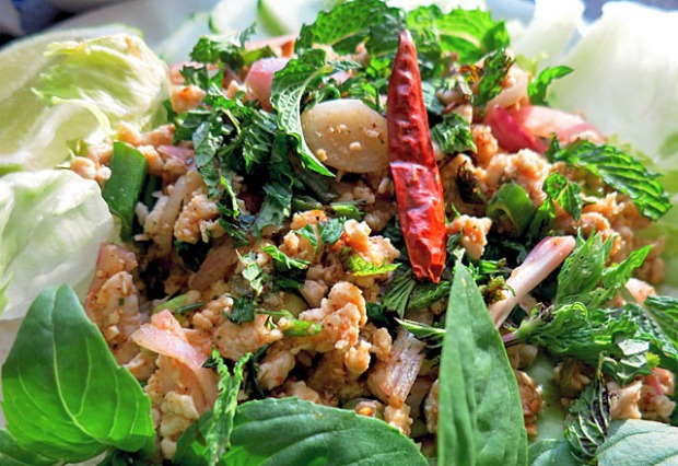 Isarn Food: Larb Gai spicy