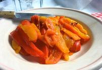 Die See kocht Paprika Antipasti