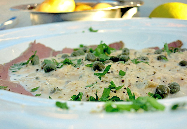 Cheater Vitello Tonnato Bordrezept