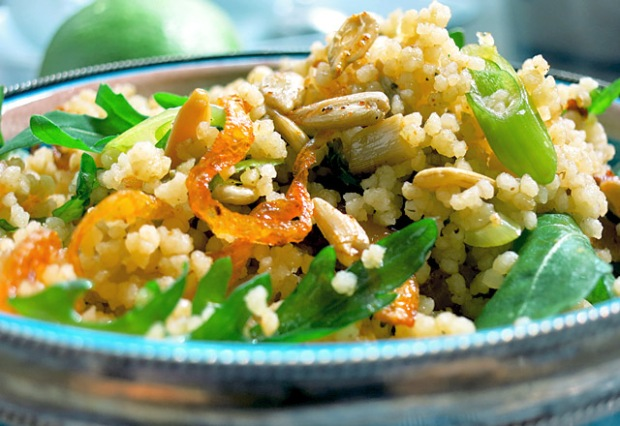 gr ner couscous salat rezept mit minze und rucola vegan die see kocht. Black Bedroom Furniture Sets. Home Design Ideas