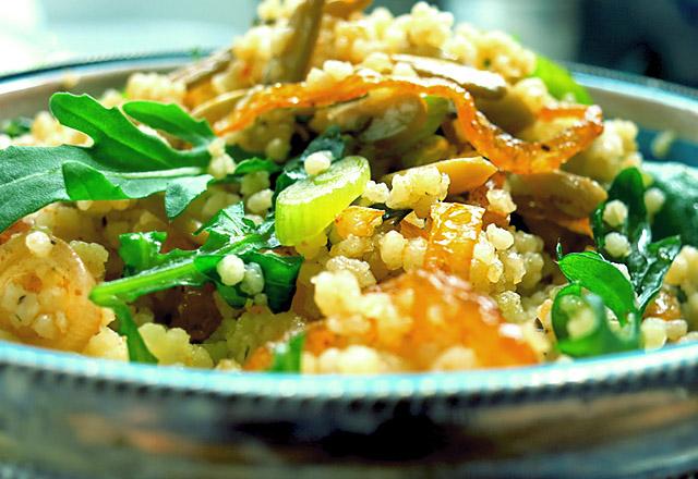 Die See kocht: Grüner Couscous Salat