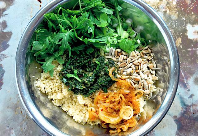Couscous Salat Grün Rezept vegan