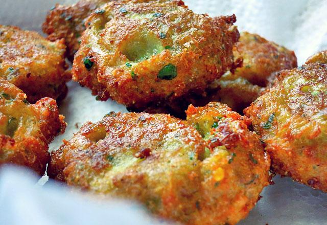 Thai Fishcakes fritiert Nahaufnahme