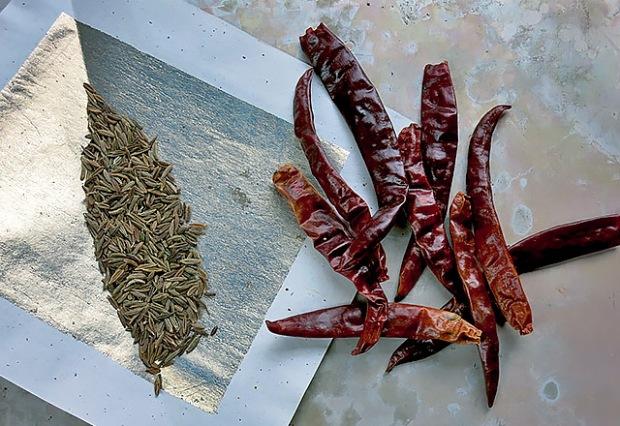 Cumin und Chili trockene Gewürze