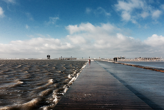 Sankt Peter Ording Strand Sturm