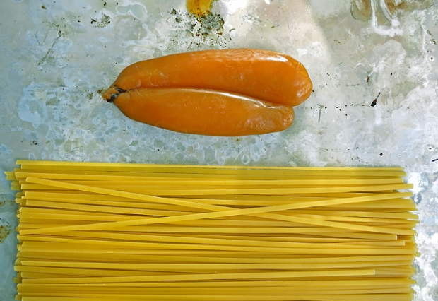 Bottarga di Muggine und Pasta