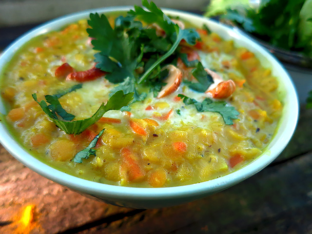 Ayurvedisch kochen an Bord Linsen Dal