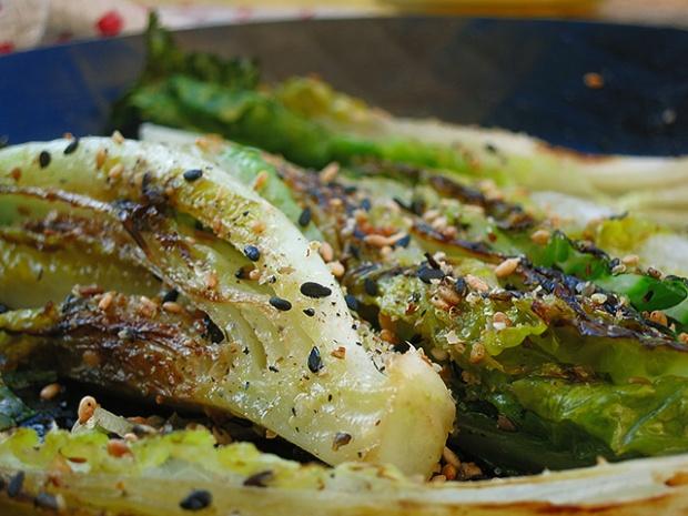 Salatherzen mit Gomasio und Ghee