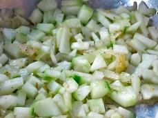 Gurkenstampf mitZwiebeln zubereitung