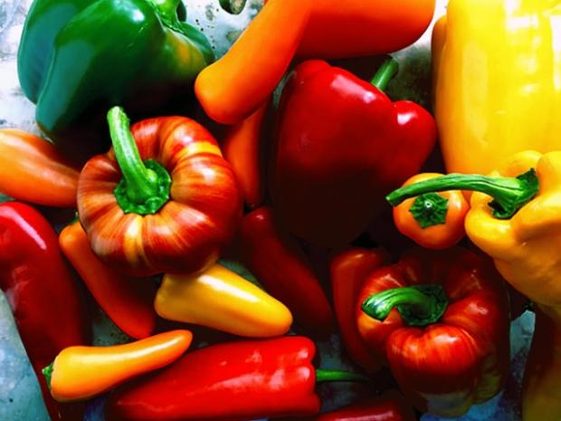 Juli Zeit für Paprika Saison
