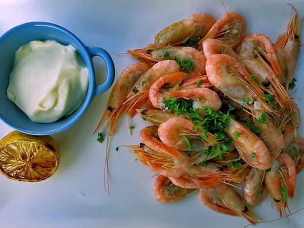 Shrimp Reyer mit Zitronenmayo Tunö