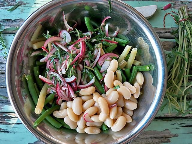 Palbohnensalat mit Bohnenkraut