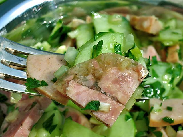 Fleischwurst Sülze Gurkensalat