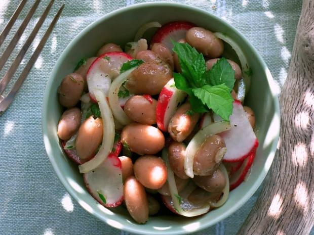 Borlotti Bohnen Salat mit Radieschen