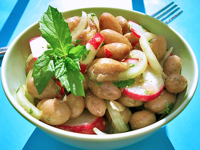 Borlotti Bohnen Salat