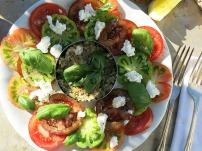 Die See kocht Tomatensalat Dosenthunfisch