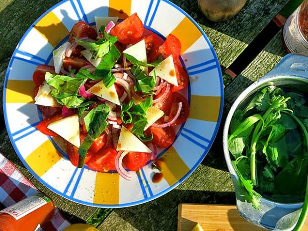 Tomatensalat mit Pecorino