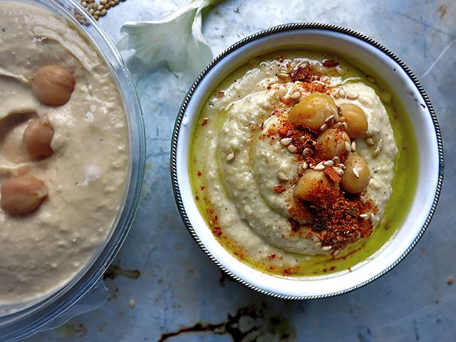 Hummus gekauft Hummus frisch gemacht