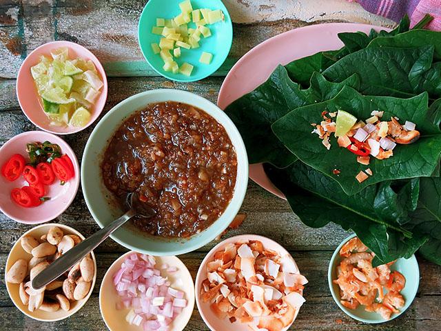 Die See kocht Miang Kham Thai snack