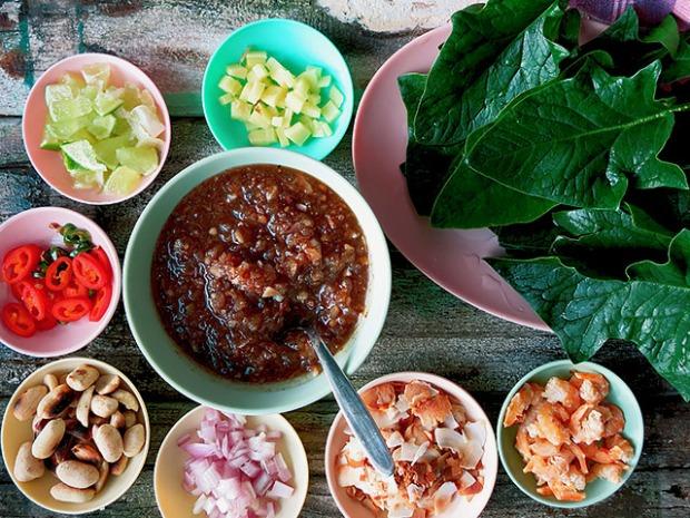 Miang Kham Thai Snack alle Zutaten