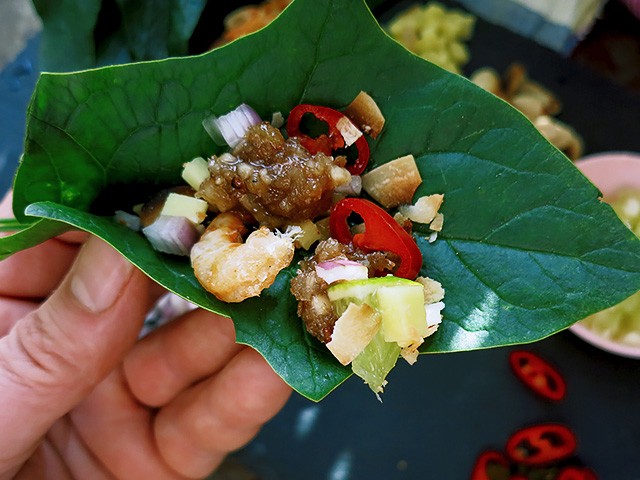 Miang Kham Thai Snack in Hand